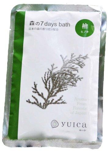 yuica 入浴剤 7days bath ヒノキ 60g