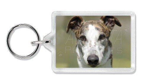 Greyhound Dog Photo Keyring Stocking Filler, Ref:AD-GH5K