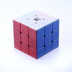 Sisweekly - GuhongV1 3x3x3 Rubik's cube magique professionnel par Lujex - pas besoin de sticker-Couleur Blanc