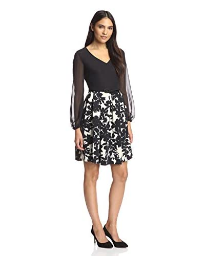 Taylor Women's Longsleeve Dress with Printed Skirt
