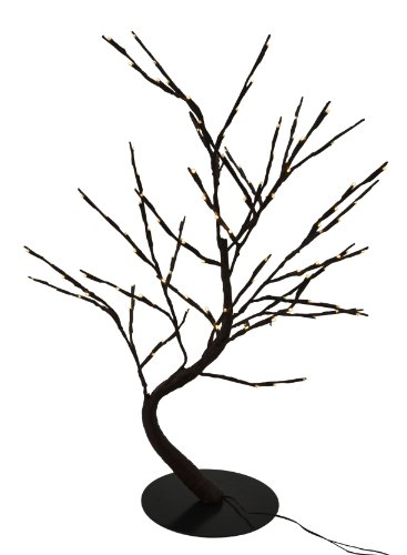Hi-Line Gift Ltd. 37370-128 30-Inch Lighted Willow Bonsai Tree With 128 Bulbs Floral Lights