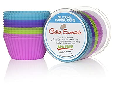 Galley Essentials Silicone Baking Cups-Set of 12