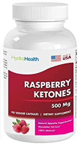 Raspberry Ketones - 100 Natural Weight - 90 Capsules 500 Mg by Hydra Health