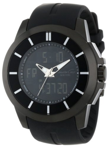 Kenneth Cole New York Men's KC1850 KC-Touch Black Touch Screen Black Strap Watch
