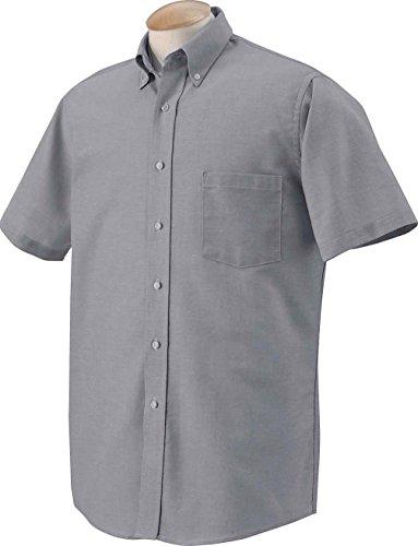 Van-Heusen-Mens-Short-Sleeve-Oxford-Dress-Shirt
