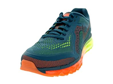 Nike Air Max 2014 Mens Style: 621077-308, Night Factor/Blk-Atmc Orng-Vlt, size 7.5