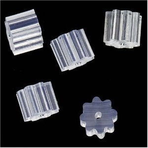 Cosmos ® 200 PCS Octagonal Star Style Rubber Earring Wire Stopper Earring Safety Backs with Cosmos Fastening Strap