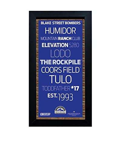 Steiner Sports Memorabilia Framed Colorado Rockies Subway Sign