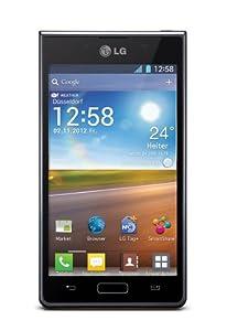 LG P700 Optimus L7 Smartphone (10,9 cm (4,3 Zoll) Touchscreen, 5 Megapixel Kamera, NFC, Android 4.0 OS) schwarz