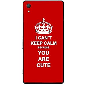 Skin4gadgets I CAN'T KEEP CALM BECAUSE YOU ARE CUTE - Colour - Red Phone Skin for SONY XPERIA Z4