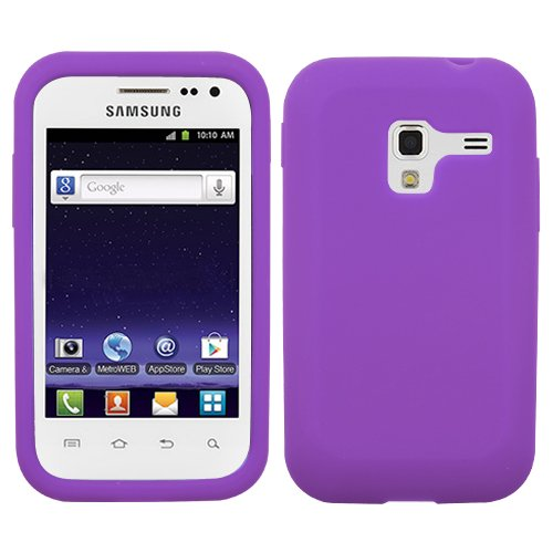 Fits Samsung R820 Galaxy Admire 4G Soft Skin Case Solid Electric Purple Skin Metropcs
