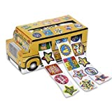 Set of 540 Motivation Stickers - Schoolbus-Shaped Box