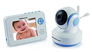 foscam fbm3502 digital video baby monitor auto motion tracking white blue baby. Black Bedroom Furniture Sets. Home Design Ideas