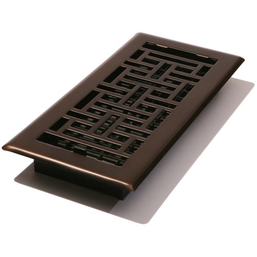 Decor Grates AJH412-RB Oriental Floor Register, Rubbed Bronze, 4-Inch by 12-Inch (Decor Grates Floor Register 6x12 compare prices)