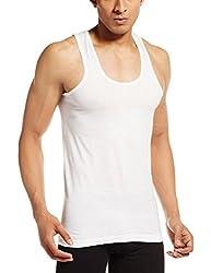 VIP Men's Cotton Vests (Pack of 6) (White - Bonus Classic - Size 80 CM)