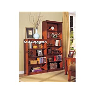 WelcomeiHome .INC Solid Wood Constructed Six-Shelf Bookcase in Cherry Finish at Sears.com