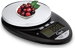 Ozeri Pro II Digital Kitchen Scale in Stylish Black, 1g to 12 lbs Capacity, with Countdown Kitchen Timer