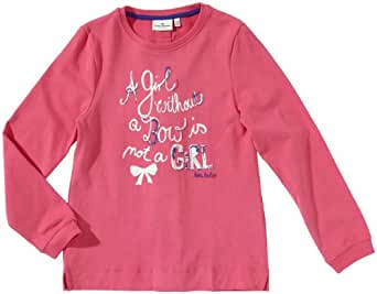 TOM TAILOR Kids Pull Manches longues Fille - Rose foncé - Pink (5418  candy pink) - FR : 4 ans (Taille fabricant : 104/110)