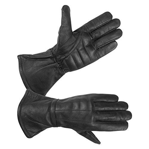 Hugger Glove Company Men's Classic Gauntlet Gloves X-Large Black Genuine Leather Gauntlet Gloves