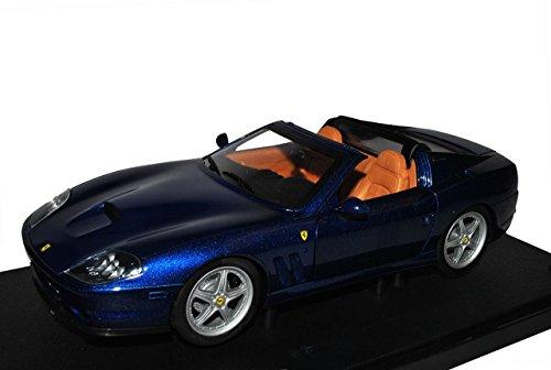 ferrari-superamerica-cabrio-blau-1-18-mattel-hot-wheels-modell-auto