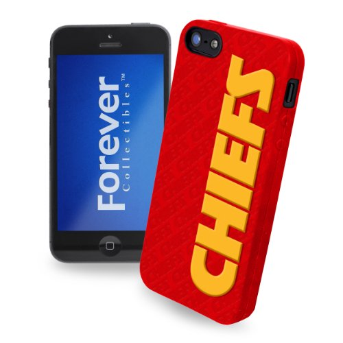Great Price Forever Collectibles Kansas City Chiefs Team Logo Silicone Apple iPhone 5 & 5S Case