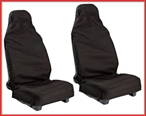 FORD FOCUS ST (2005 on) Front nylon water proof seat covers - BLACK