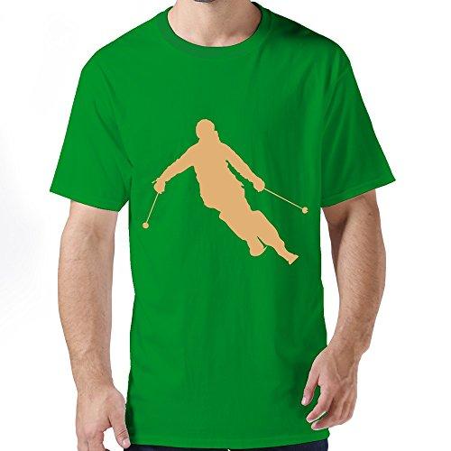 Jien Men'S Skier T-Shirt - Kellygreen L
