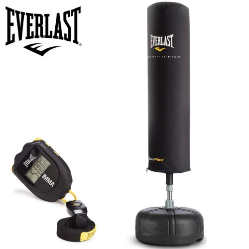 Everlast Cardio Strike Freestanding Punch Bag/Boxing Bag with Free Round Timer Included
