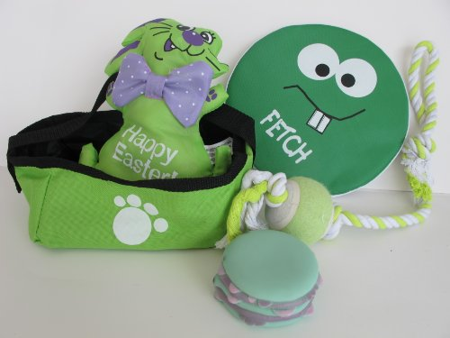 5 Piece Dog Easter Basket Gift Set - Beautiful Green