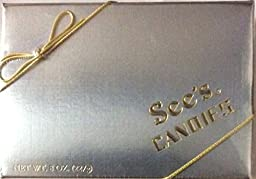 See\'s Candies Assorted Chocolates Silver Box 8 Oz