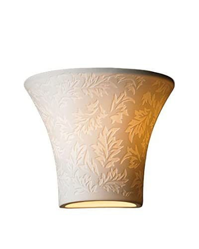 Justice Design Group Limoges Leaves Small Flared Wall Sconce