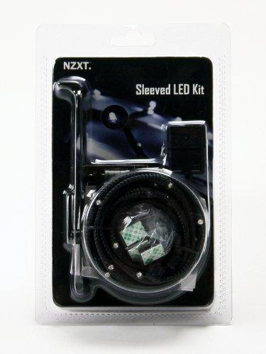 NZXT CB-LED20-BU 2-Metres Light Sensitivity Sleeved LED Kit (Blue)