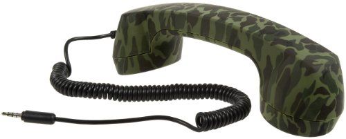Retro Pop Handset For Cell Phones - Soft-Touch Finish (Army)