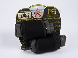 Petego Mobile Muscle Fitness Sandbag Workout Set, Anthracite, Adjustable/8-15 lb