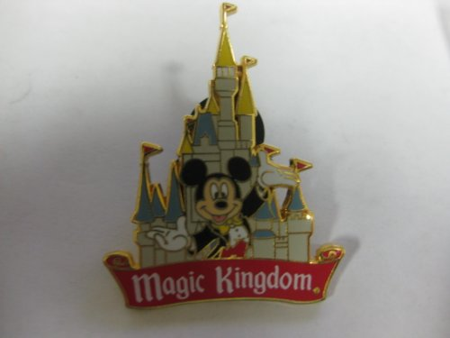 Disney Pin Magic Kingdom Mickey In Front Of Castle