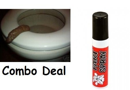 Fart Spray and Fake Turd-poop Combo Deal Prank Gag Joke by Novelty