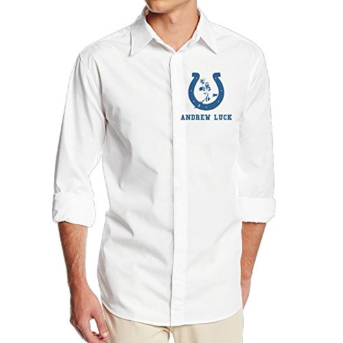 Carina Andrew Indianapolis Luck Colts One Size Personality Men's Long Sleeved Shirt M