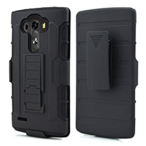 Lg G4 Case, Future Armor For LG G4 Combo Case with KickStand and Holster - Black