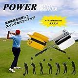 [Present-web] ゴルフ スイング 矯正 空気抵抗 アイアン 飛距離 アップ 羽根 練習 用品 パワー パワフル ヘッド スピード 負荷 【イエロー】