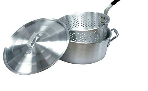 Smart Cook 10 Quart Aluminum Fry Pot with Basket and Lid (Aluminum Fry Pot compare prices)