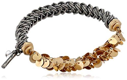 Kenneth Cole New York Gold Shaky Circle Half Stretch Bracelet
