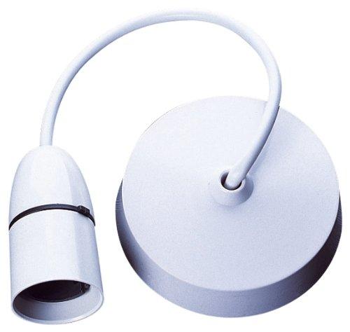 Electrovision - Rosone a soffitto e portalampada pendente T2, bianco