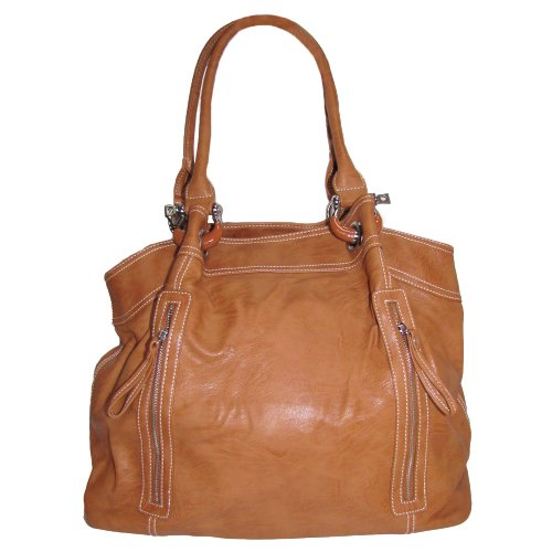 Large Zipper Tote Handbag (Desert Orange)