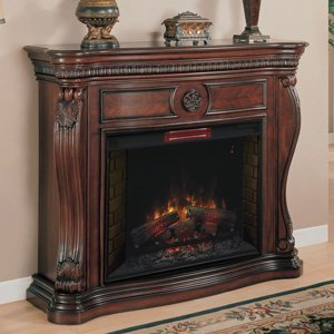 Classicflame Lexington Infrared Electric Fireplace Mantel In Empire Cherry - 33Wm881-C232