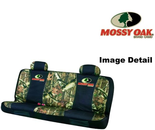 Mossy Oak Infinity Camo Car Truck SUV Universal-fit Rear Bench Seat Cover with Head Rest Covers