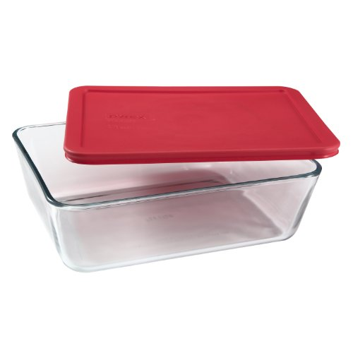 pyrex 11 cup rectangular glass food storage dish with lid new free shipping ebay. Black Bedroom Furniture Sets. Home Design Ideas