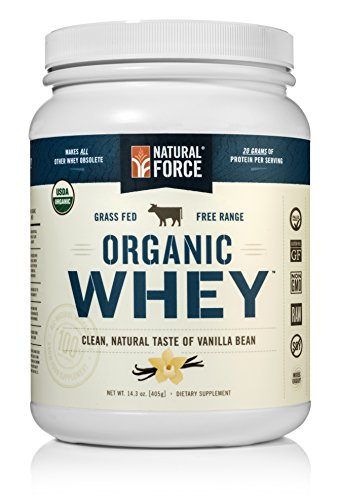 Natural Force® Organic Whey Protein Powder *RANKED #1 BEST TASTING* Grass Fed Whey - Undenatured Whey Protein