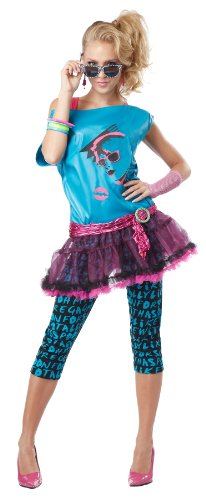 California Costumes Women's Valley Girl Adult, Turquoise/Black - XS to X-Large