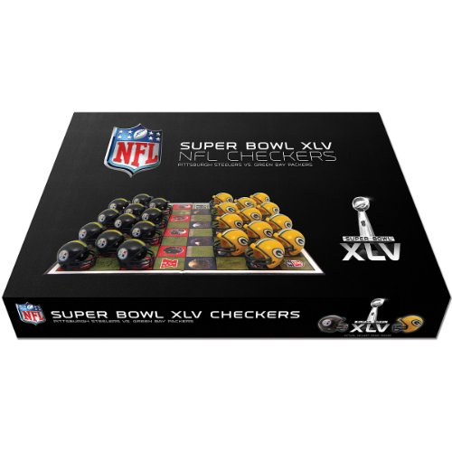 NFL Pittsburgh Steelers vs Green Bay Packers Dueling Checkers Set