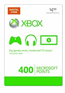 Xbox LIVE 400 Microsoft Points [Online Game Code]